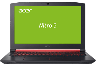 ACER Nitro 5 (AN515-51-5491), Gaming Notebook mit 15.6 Zoll Display, Core™ i5 Prozessor, 8 GB RAM, 512 GB SSD, GeForce® GTX 1050, Schwarz/Rot